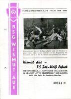 Programmheft Wismut Aue - FC Rot-Weiß Erfurt Fußballmeisterschaft 1984/85 /145