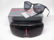 Authentic Prada Sport SPS 01T U61-144 Havana Rubber w/Grey Polarized Sunglasses