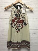 Taylor & Sage Tank Top Womens Size XS Floral Lace Sleeveless Boho Shirt NWT