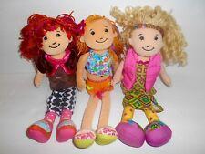 "Groovy Girls Doll Lot Manhattan Toy 13"" Euc Rag Cloth Dolls Clothing Outfits"