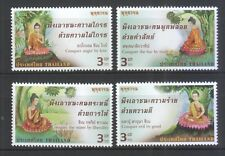 THAILAND 2016 VESAK DAY (BUDDHA) COMP. SET OF 4 STAMPS IN MINT MNH UNUSED