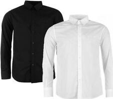 ✔ PIERRE CARDIN langarm Herren Hemd Schwarz Weiß Buisness Kragen Herrenhemden