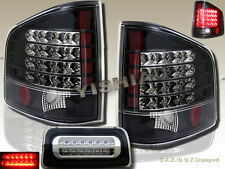 94-04 Chevy S10 GMC Sonoma Pickup Standard Cab LED Tail Black & 3rd Brake Light