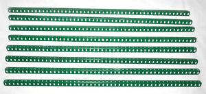 "8x Meccano 24½"" 49 Hole Angle Girders - Part Number 7"