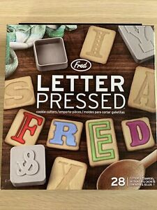 Fred Alphabet Letter Pressed Cookie Cutters & Stampers - Baking Set Of 28