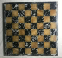 Marble And Quartzite Chess Board Tan Black And White Game Board Vintage Handmade
