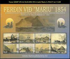 FAROER KB487-494 4x2150 J rondvaart jacht Mariu tussen Faroer eilanden