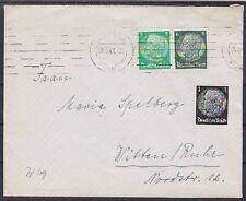 DR ZD W 69 MIF su lettera, GEL. con MAS cibo-Witten Ruhr 04.09.1941