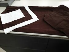 Genuine Ralph Lauren Chocolate /White Double Duvet Cover With 4 pillow Cases