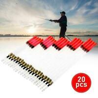 20 Stück Mixed Loaded Fishing Kristall Waggler Floats Karpfen Angelgerät Z0C6