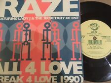 "RAZE Feat. LADY J & THE SECRETARY OF ENT 7"" - ALL 4 LOVE - CHAMPION CHAMP 228"