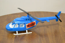 Vintage Gay Toys Blue Plastic Emergency Helicopter Item 870 Made In Usa