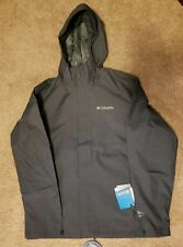 NWT Columbia Men's Diablo Creek Rain Shell -Shark / Medium $80 drk blue grey NEW