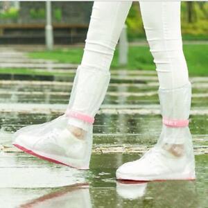 Portable PVC Reusable Women Men Anti-Slip Waterproof Rain Shoes Cover Protective