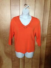 WOMEN'S DRESSBARN WOMAN 3/4 SLEEVE TOP-SIZE: 1X (14/16)