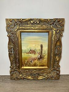 Small ANTIQUE FRENCH STYLE Gilt Wood Gold Rubbed PICTURE FRAME