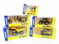 KOMATSU WHEEL LOADER Diecast WA380-8 HD325-8 GD675-6 D61Pxi-23  PC210LCi 1/87