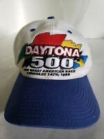 Vintage Daytona 500 Snapback Hat The Great American Race 1999 Cap Trucker Nascar