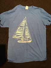 Samuel Sam Adams Summer Ale Shirt M Gildan Baby Blue Craft Beer Top Tshirt S L