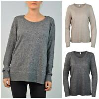 GAP Cotton Marl Relaxed Scoop Round Neck Cotton Blend Jumper Regular and Tall