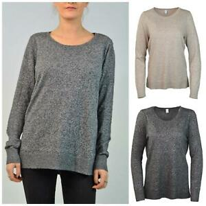 GAP Cotton Marl Relaxed Scoop Round Neck Cotton Blend Grey Marl 4XL Tall