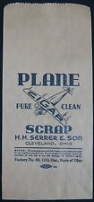 Antique 1920's Plane Pure Clean Cigar Scrap Serrer Cleveland, OH Bag