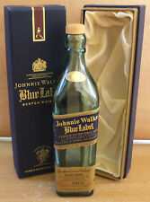 JOHNNIE WALKER BLUE LABEL NUMBERED BOTTLE  IN BOX  ''NO ALCOHOL''