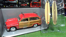 FORD WOODY STATION WAGON 1949 rg + 2 SURF 1/18 MOTOR CITY CLASSICS 60008 voiture