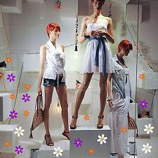 adesivi vetrine fiori margherite negozi vetrofanie scarpe moda wall stickers