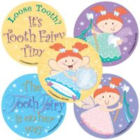 Tooth Fairy Stickers x 5 - Reward Stickers - Loosing Teeth - Tooth Fairy Gift