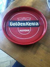 Plateau Ancien De Biere Emaillé - No Plaque - Golden Kenia Huyghe Export - Biere