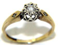 Mujer 9Ct 9Ct Oro Amarillo Anillo de Compromiso Diamante Solitario
