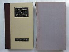 RICHARD BARBER.THE WORLDS OF JOHN AUBREY.1ST FOLIO 1988 UNREAD !!,B/W ILLS.PHOTO
