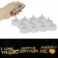 12/24Pcs Candles LED Tea Light Flameless Flickering Wedding+Remote Control Set