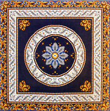 """SALE! IMPERIAL BLUE RUG/TABLE TOPPER NEEDLEPOINT CANVAS 35"""" X 35"""" FROM GOBELIN L"""