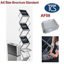 A4 Portable brochure stand/brochure holder/catalogue with hard case