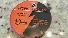 """4 Rolls - UL Listed 3/4"""" x 66' PVC Insulating Electrical Tape -PURPLE 19mm x 20m"""