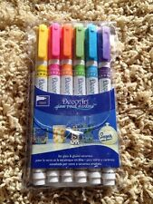Deco Art Set Of Six 6 Multi Color Brand New Free Shipping