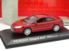 Norev 1/43 - Peugeot 407 Coupe Prologue Rouge Geneve 2005