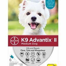 K9 Advantix II for Medium Dogs 11-20 lbs - 6 Pack - FREE Shipping