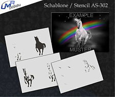 Step by Step Stencil ~~ UMR Airbrush Schablone AS-302 M