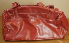 AVON Womens HandBag Makeup Carry RED Luggage Polyester Faux Leather look