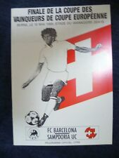 1989 Copa Taza de ganadores de los final europeas-Barcelona V UC Sampdoria, 10 de mayo (Exc, Org *)