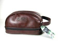 Penguin Mens Shaving/Toiletry Bag Travel Kit Brown New NWT