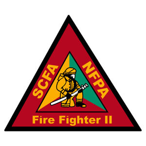South Carolina Certified Firefighter Small Reflective Decal Sticker