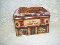 The Olde Old Village Shop Tin Box 1987 USA