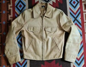 Red Moon Lightweight Japanese Horsehide Leather Motorcycle Jacket Iron Heart RRL