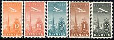 Denmark 1934  Air Mail   SG.287/291  Mint (Hinged)
