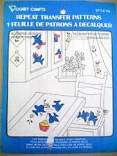 VOGART TRANSFER PATTERN #709 BLUEBIRD DESIGNS FOR KITCHEN ~ UNCUT