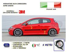 Modanature Grande Punto Fiat esterne laterali in gomma adesivi salva paraurti 5m